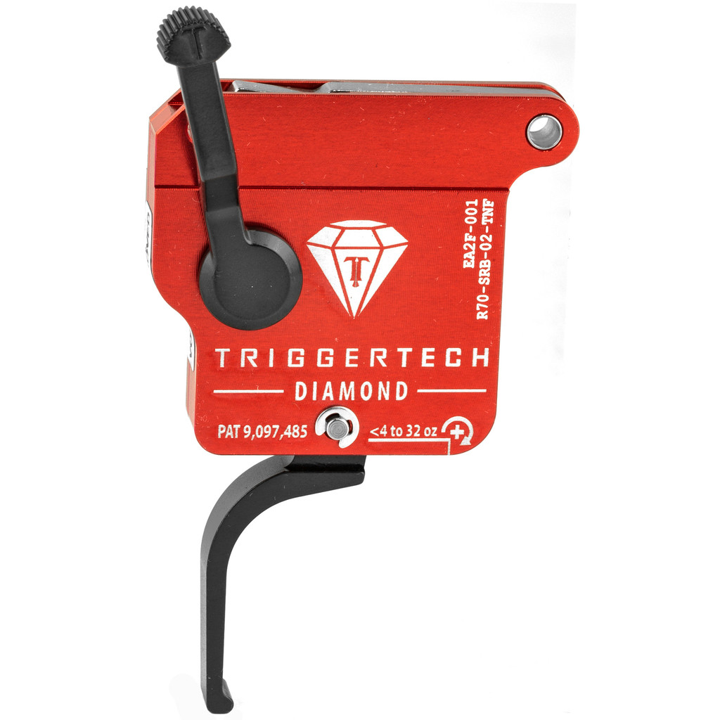 TriggerTech Diamond Rem 700 RH Trigger, Flat Straight, Adjustable - PVD Black