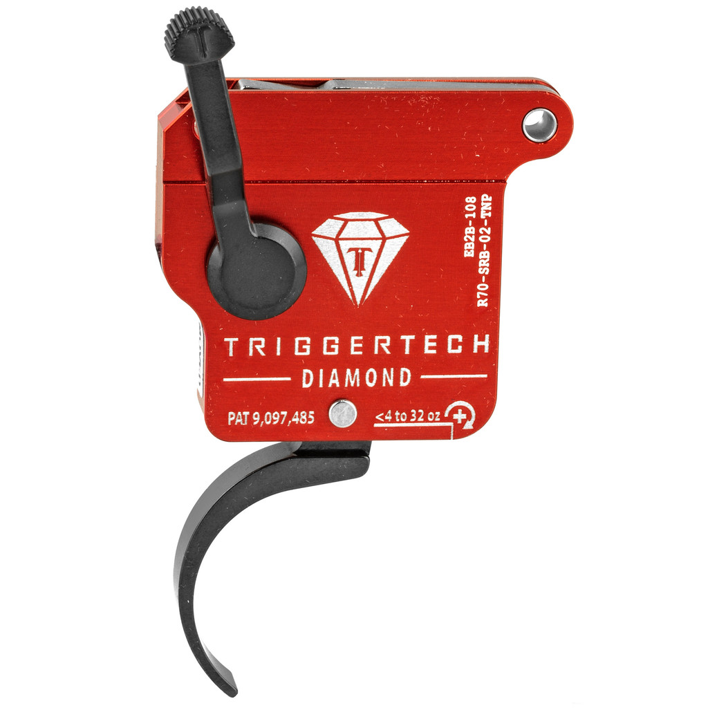 TriggerTech Diamond Rem 700 RH Trigger, Pro Curved, Adjustable - PVD Black