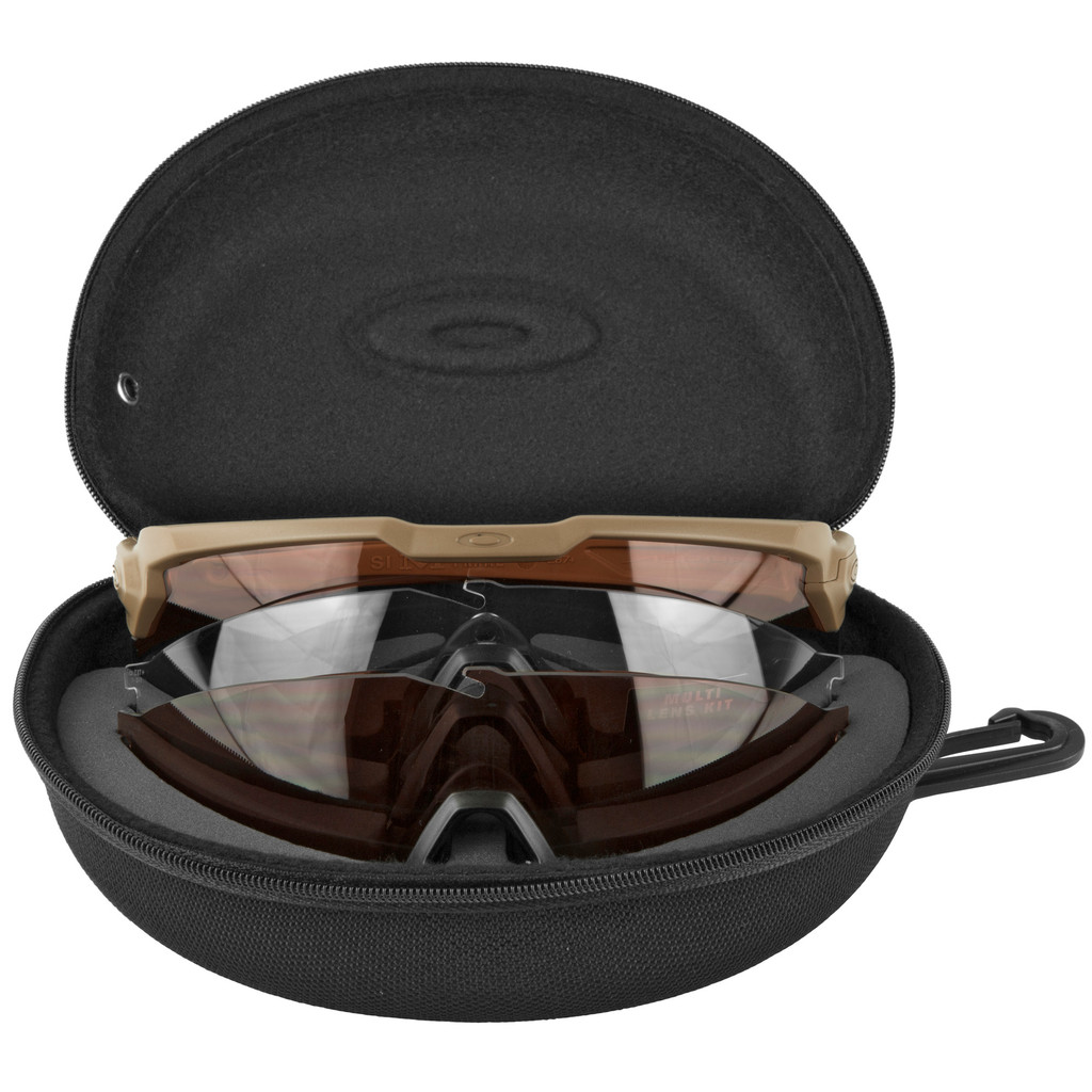 Oakley Standard Issue Ballistic M Frame Alpha  - Tan w/ Clear, TR22, and TR45 Prizm Lenses (OO9296-2144)