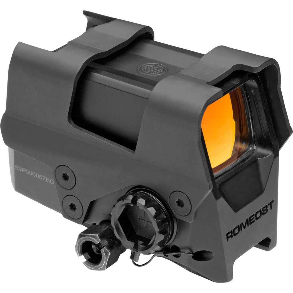 SIG Sauer ROMEO8T Closed Red Dot Sight With Shroud, Multi-Reticle 2 MOA Dot  - Black (SOR81002)