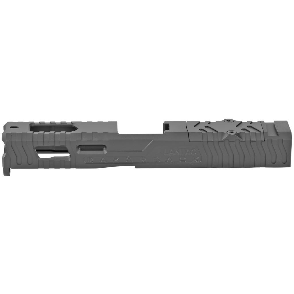 LANTAC Razorback Windowed Stripped Slide For Gen 1-3 Glock 19