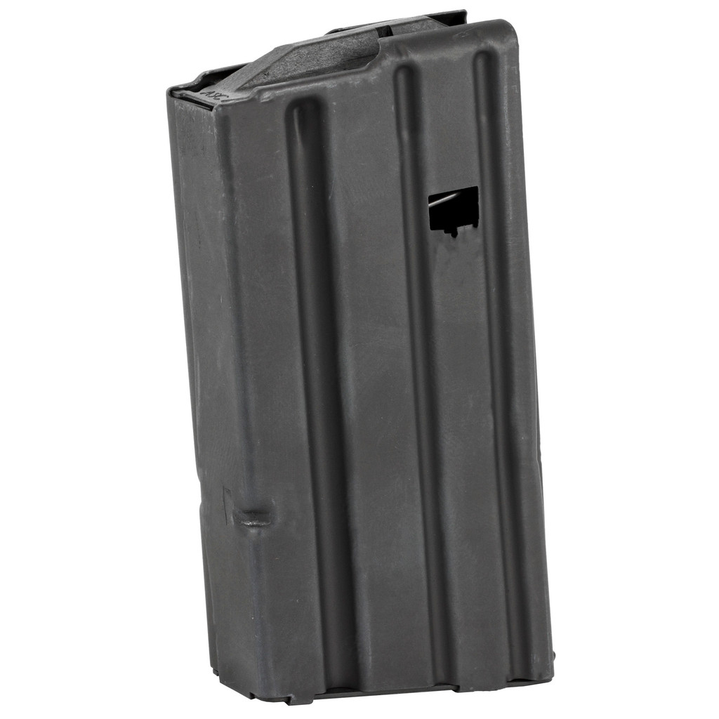 ASC 10/20 Round Stainless Steel AR15 Magazine, Black Follower (California Compliant)