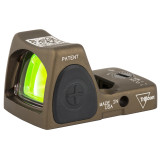 Trijicon RMR Type 2 Adjustable LED Sight, 3.25 MOA Red Dot - Coyote Brown (RM06-C-700780)
