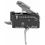 TriggerTech Adaptable AR Primary Trigger, Straight Flat, Adjustable - Stainless