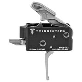 TriggerTech Combat AR Primary Trigger, Straight Flat Lever - Stainless
