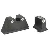 Trijicon Bright & Tough Night Sight Suppressor Set For Glock Pistols, White Front / White Rear with Green Lamps (GL201-C-600649)