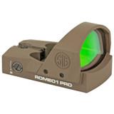 SIG ROMEO1 PRO Reflex Red Dot Sight,  6 MOA Dot - FDE