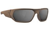 Magpul Radius Ballistic Eyewear - FDE w/ Gray-Silver Polarized Lenses (MAG1043-070)