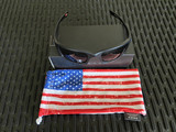 Oakley SI Fives Squared - Matte Black w/ Color USA Flag, Gray Lenses (OO9238-3454)