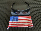 Oakley SI Ballistic Det Cord - Matte Black w/ Color USA Flag, Gray Lenses (OO9253-1161)