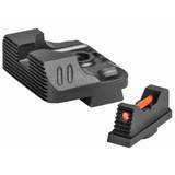ZEV Combat Night Sight Set .215 Tritium Front w/ Orange Ring, Tritium Rear