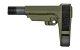 SB Tactical SBA3 Adjustable AR Pistol Brace - OD Green