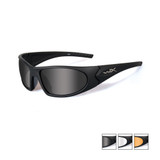 Wiley X Romer 3, 3 Lens Sunglass Kit, Matte Black, Smoke Grey/Clear/Light Rust Lenses (1006)