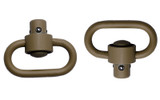 GrovTec Heavy Duty Push Button Swivels - FDE