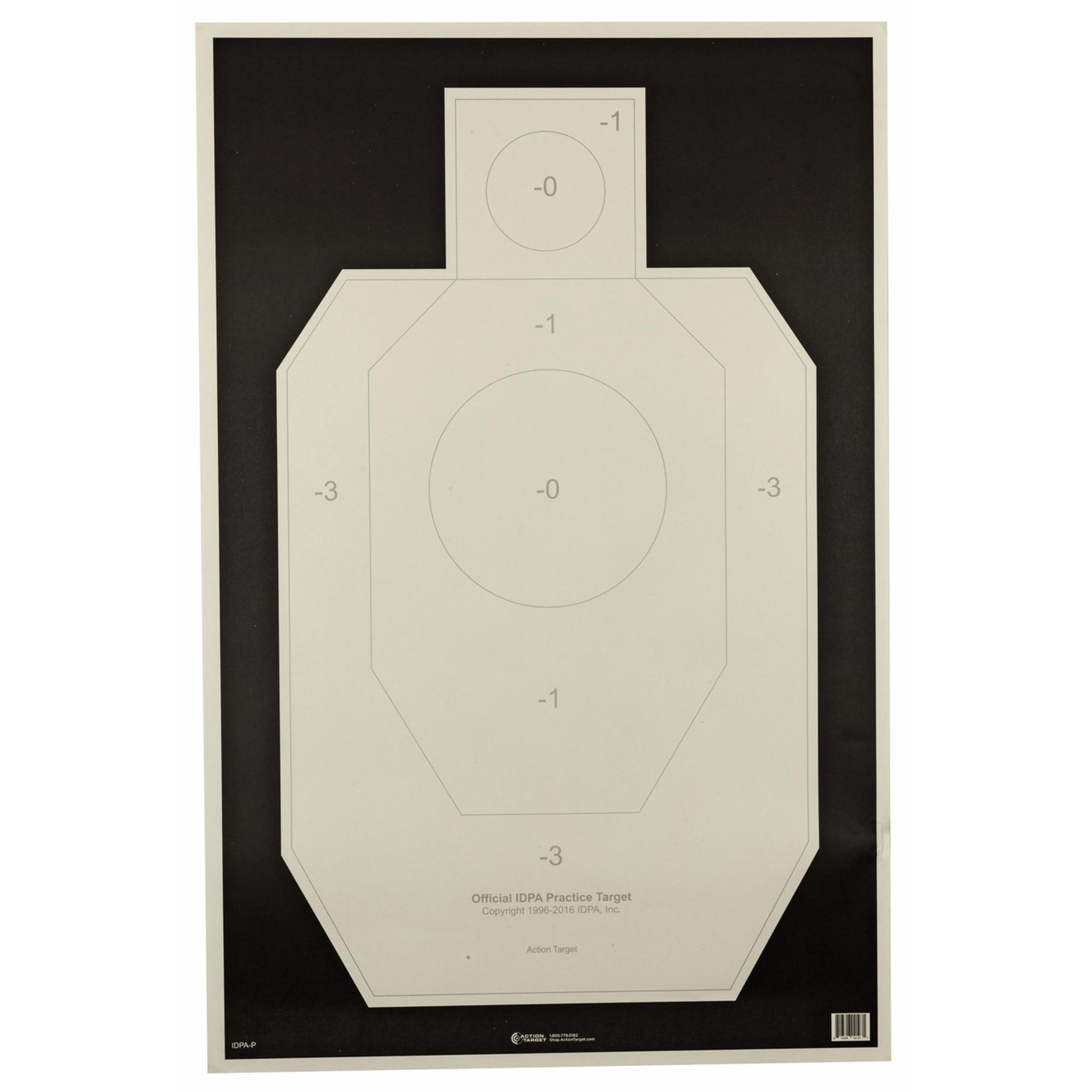 Action Target Inc IPSC-P-100 USPSA IPSC Official Target Paper 100//Box