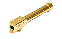 Agency Arms Mid Line Match Grade Drop-In Barrel (Compatible With GLOCK® 19) Fluted/Threaded - Titanium Nitride (Gold)