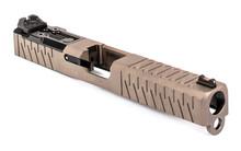 ZEV Z17 Enhanced SOCOM Slide Gen 3 Glock 17 w/ DeltaPoint Pro Cutout and Adapter Plate - FDE