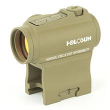 Holosun HS503GU Micro Red Dot Sight, 65 MOA Circle/ 2 MOA Dot - FDE