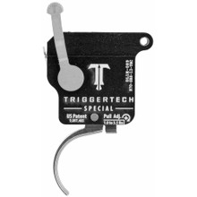 TriggerTech Rem 700 Special Trigger, RH, Curved Lever, Adjustable, w/ Bolt Release - Stainless