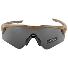 Oakley Standard Issue Ballistic M Frame Alpha  - Terrain Tan w/ Grey & Clear Lenses (OO9296-07)