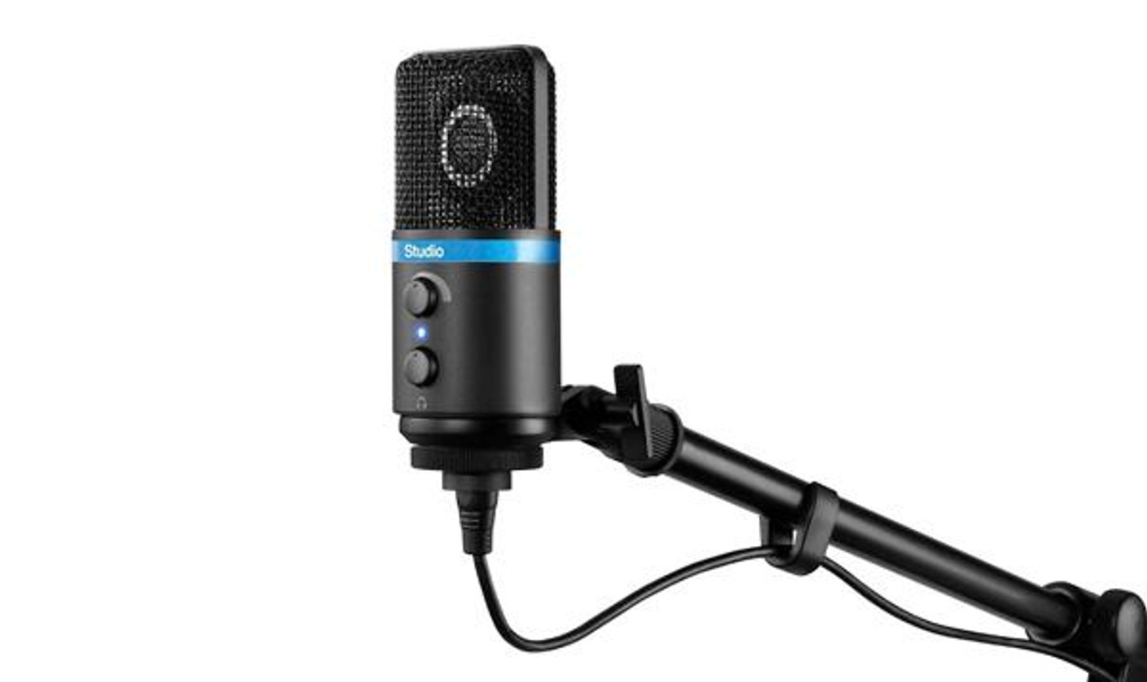 IK Multimedia iRig Mic Studio LCD Black for IOS, MAC, PC and Android  Devices - The Pro Audio Guys