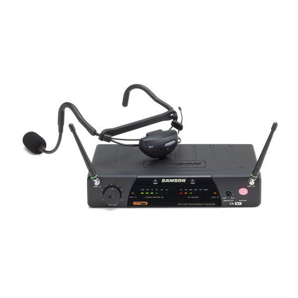 Samson Airline 77 Fitness Headset Wireless System with AH7, QE - K4