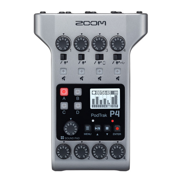 Zoom PodTrak P4 Portable Podcast Audio Recorder