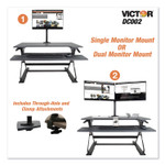 Victor Monitor Mount with Single and Dual Arm Components, 27.5w x 3d x 16.5h, Black Product Image