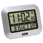 """AbilityOne 6645016611877 SKILCRAFT LCD Digital Radio-Controlled Clock, 7.25"""" x 9.75"""", Sliver Case, 2 AAA (sold separately) Product Image"""