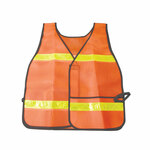 AbilityOne 8415013940216, SKILCRAFT Safety Reflective Vest, Orange/Yellow, One Size Product Image
