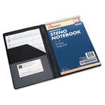 "AbilityOne 7510014547388 SKILCRAFT Vinyl Steno Pad Holder, Vinyl/Foam, 6"" x 9"", 80 Page, Black Product Image"