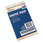 AbilityOne 7530014547392 SKILCRAFT Notepad, Narrow Rule, Blue Cover, 3.25 x 5.5, 50 Sheets, Dozen Product Image