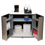 Vertiflex Refreshment Stand, Two-Shelf, 29.5w x 21d x 33h, Black/White Product Image