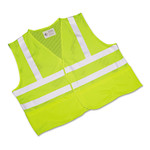 AbilityOne 8415015984870, SKILCRAFT, Safety Vest--Class 2 ANSI 107 2010 Compliant, Lime/Silver, X-Large Product Image