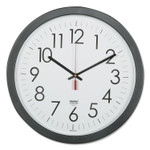 """AbilityOne 6645016237483 SKILCRAFT Quartz Wall Clock, 14.5"""" Overall Diameter, Black Case, 1 AA (sold separately) Product Image"""