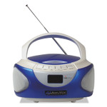 AmpliVox CD Boombox with Bluetooth, Blue Product Image