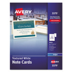 Avery Textured Note Cards, Inkjet, 4 1/4 x 5 1/2, Uncoated White, 50/Bx w/Envelopes Product Image