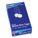 Avery Heavyweight Stock Metal Rim Tags, 1 1/4 dia, White, 500/Box Product Image