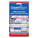 """ComplyRight Labor Law Poster Service, """"State/Federal Labor Law"""", 4w x 7h Product Image"""