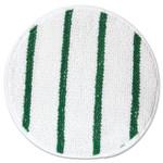 "Rubbermaid Commercial Low Profile Scrub-Strip Carpet Bonnet, 17"" Diameter, White/Green Product Image"