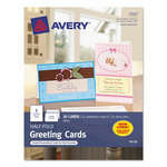 Avery Half-Fold Greeting Cards, Inkjet, 5 1/2 x 8.5, Matte White, 20/Box w/Envelopes Product Image