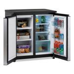 Avanti 5.5 CF Side by Side Refrigerator/Freezer, Black/Stainless Steel Product Image