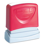 AbilityOne 7520012074108 SKILCRAFT Pre-Inked Message Stamp, COPY, Red Product Image