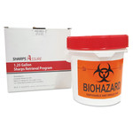 TrustMedical Sharps Retrieval Program Containers, 1.5 qt, Plastic, Red Product Image