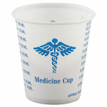 Dart Paper Medical & Dental Graduated Cups, 3oz, White/Blue, 100/Bag, 50 Bags/Carton Product Image