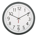 """AbilityOne 6645016238824 SKILCRAFT Quartz Wall Clock, 16.5"""" Overall Diameter, Black Case, 1 AA (sold separately) Product Image"""
