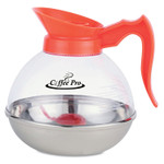 Coffee Pro Unbreakable Decaffeinated Coffee Decanter, 12-Cup, Stainless Steel/Polycarbonate Product Image