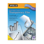 Apollo Plain Paper B/W Laser Transparency Film w/Handling Strip, Letter, Clear, 100/Box Product Image