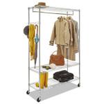 Alera Wire Shelving Garment Rack, 40 Garments, 48w x 18d x 75h, Silver Product Image