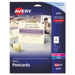 Avery Postcards for Inkjet/Laser Printers, 4 1/4 x 5 1/2, Ivory, 4/Sheet, 100/Box Product Image